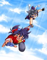 Flying: Tyson and Kai by TechnoRanma