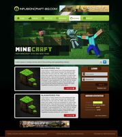 Free Simple Minecraft template by mconev