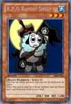 R.P.G Bandit Sheep Yugioh card by Cursed-Mangaka