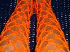 Neon Orange Leggings by motheroftheforsaken