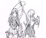 Vindictus Vella and Evie Lineart by SoulHound568