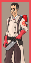 Red Medic by ZoeStanleyArts