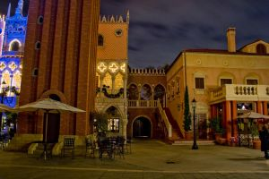 Epcot Italy at Night 15 by AreteStock