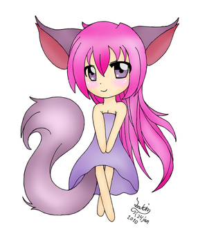 Chibi fox girl colored by FruITcAKEChEERS