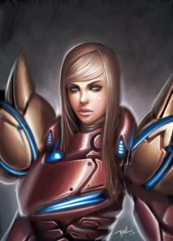 Samus Portrait by Zeronis