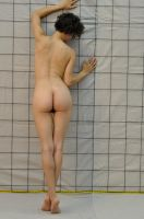 Figure Study wGrid - Female314 by AMDGFineArts