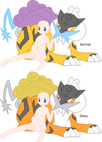 Girl And Raikou Base by Child-Of-Hades