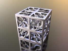 Box Hyper Fractal 3D print 75mm by nic022