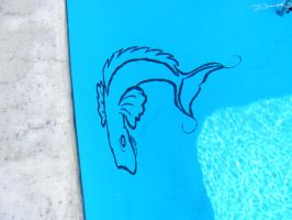 Pool Mural Fish Commission by Sofera