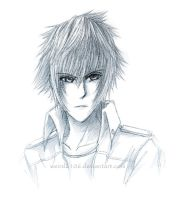 Comm: Noctis' Head-Shot Sketch by weird2106