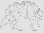 -free-to-use- wolf line-art by SuperiorIntellect