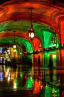 Chicago City Hall red green:II by spudart