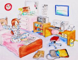 Late night study for finals by taeun