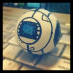 Wheatley Ping Pong Ball by HeavyMetalGear