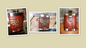 Legend of Zelda Flask Belt carrier by deadlanceSteamworks