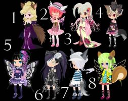 Fantasy Girls TTA CLOSED+ by AdoptableSoulxHeart
