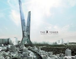 the x tower by ydnerendy
