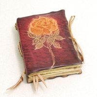 Leather Rose Book by gildbookbinders