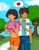 Dora y Diego crecidos xD by Run-Devil-Ru-n