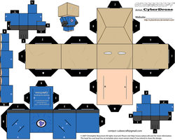 Cubee - Paper Bag Spider-Man by CyberDrone