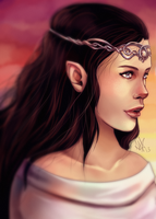 Arwen speaks her vows by FeatherFactory