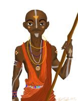 African Avatar- Maasai Aang by BlackInkHeart