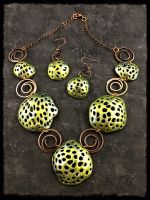 Polymer Clay Deep Sea Coral Set Green A by Welcome2alittleTLC