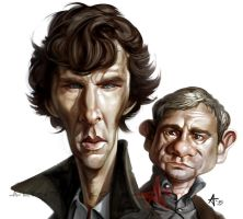 Benedict and Martin by Caveatscoti