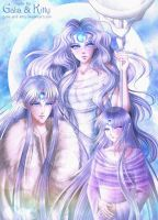 Commission: Moon Family by galia-and-kitty