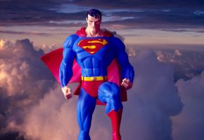 Superman in the clouds by Robby-Robert