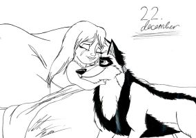 Kitara the wolfhound - Dec. 22 by MortenEng21