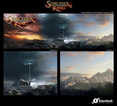 Main environment matte painting for Sorcerer King by jembury