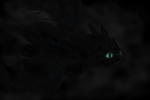 Night Fury in the Dark by lilgerndt