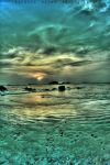 emerald sunset by sandeepsarma