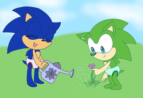 Baby Sonic and Scourge request by AishaPachia