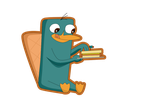 Perry y su sandwich by leyva1130