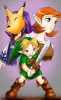 Anju, Kafei and Link by Jelouse-Love