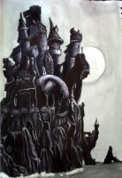 Inky Castle by Darkmoonlilly