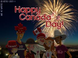 Happy Canada Day 2012---FIREWORKS! by daanton