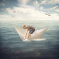The Boy who Flew in a Boat by theflickerees
