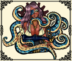 Kraken Pirate Queen by missnokitty
