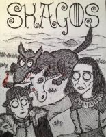 Rickon Stark, Osha and Shaggydog by timburtongot