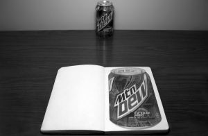 Mountain Dew Still Life Drawing by Rollingboxes
