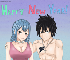Gruvia Happy New Year! by LyritEmbrium