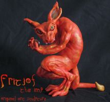 Fritjof the Imp - Original Art Sculpture by Ilenora