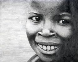 African kid sketch by xiangyuxyz