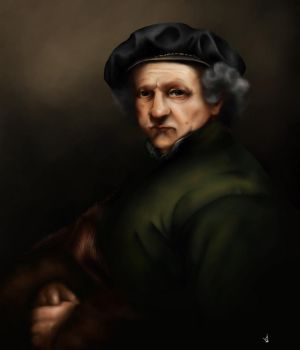 Rembrandt Portrait 1659 - Study Painting by SethWoll