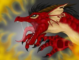 Angry Dragon -colored- by Yuugi90