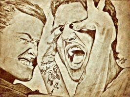 lena headey and pedro pascal Portrait drawing  by mohitkumarrao