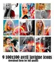 Avril Lavigne icons set n.1 by Ed-Fullmetal